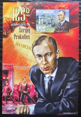Poštovní známka Mosambik 2016 Sergej Prokofjev Mi# Block 1141 Kat 10€