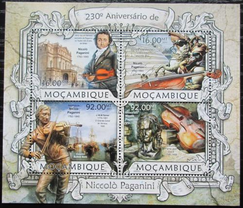 Poštovní známky Mosambik 2013 Niccolò Paganini Mi# 6394-97 Kat 13€