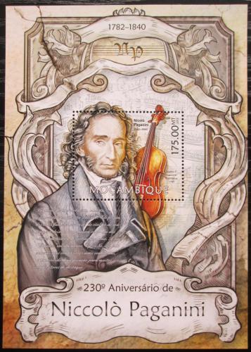 Poštovní známka Mosambik 2013 Niccolò Paganini Mi# Block 730 Kat 10€