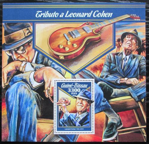Poštovní známka Guinea-Bissau 2016 Leonard Cohen Mi# Block 1556 Kat 12.50€