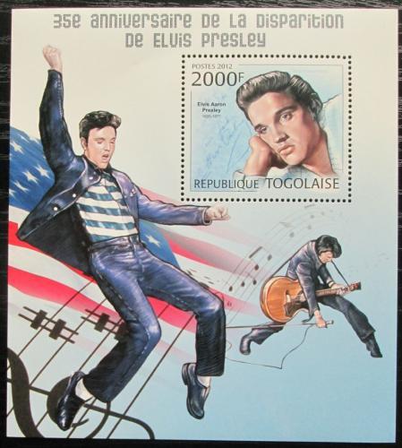 Poštovní známka Togo 2012 Elvis Presley Mi# Block 729 Kat 8€