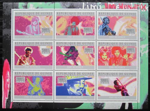 Poštovní známky Guinea 2010 Jimi Hendrix Mi# 7389-97 Kat 18€