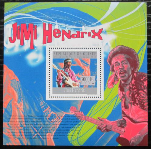 Poštovní známka Guinea 2010 Jimi Hendrix Mi# Block 1810 Kat 10€