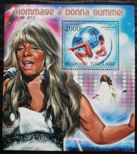Poštovní známka Togo 2012 Donna Summer, zpìvaèka Mi# Block 735 Kat 8€