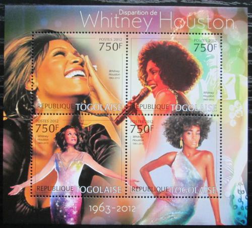 Poštovní známky Togo 2012 Whitney Houston, zpìvaèka Mi# 4598-4601 Kat 12€