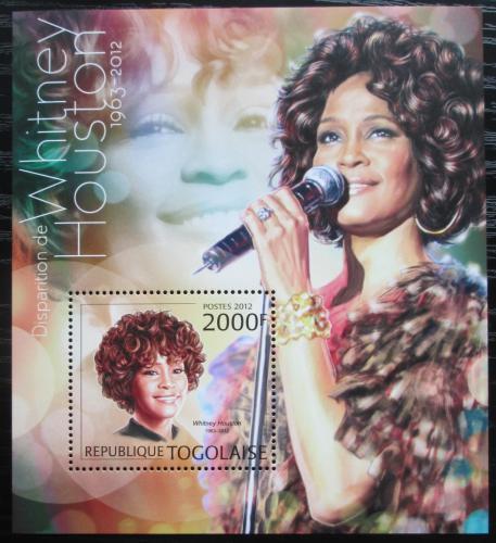 Poštovní známka Togo 2012 Whitney Houston, zpìvaèka Mi# Block 736 Kat 8€