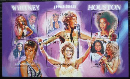 Poštovní známky Mosambik 2012 Whitney Houston, zpìvaèka Mi# 5645-50 Kat 14€