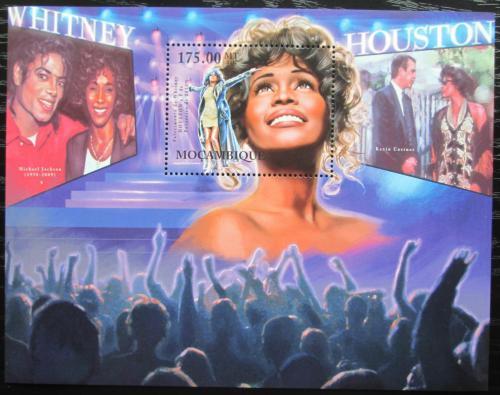 Poštovní známka Mosambik 2012 Whitney Houston, zpìvaèka Mi# Block 610 Kat 10€
