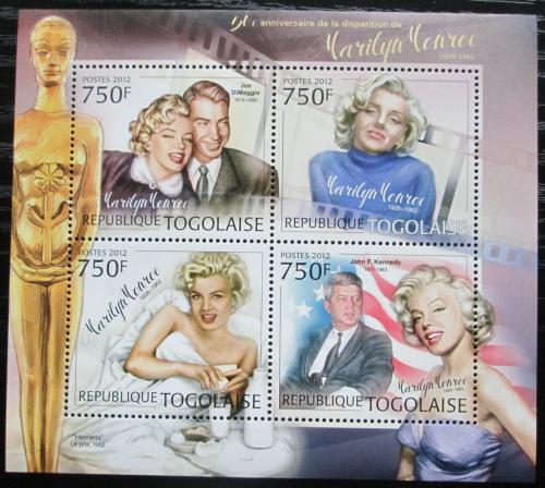 Poštovní známky Togo 2012 Marilyn Monroe Mi# 4553-56 Kat 12€
