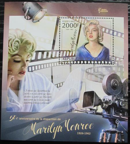 Poštovní známka Togo 2012 Marilyn Monroe Mi# Block 727 Kat 8€