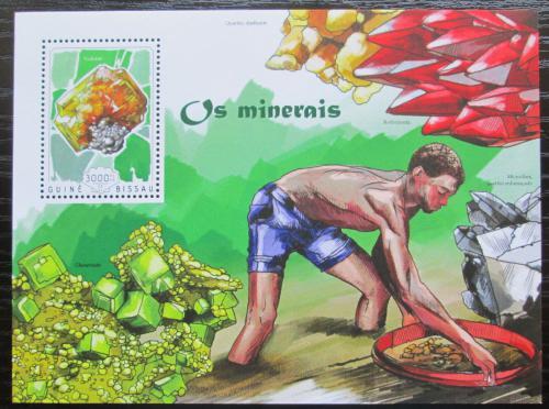 Poštovní známka Guinea-Bissau 2014 Minerály Mi# Block 1292 Kat 12€