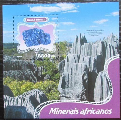 Poštovní známka Guinea-Bissau 2014 Africké minerály Mi# Block 1273 Kat 13€