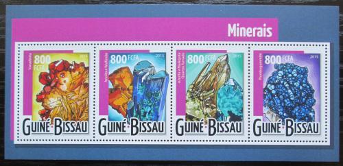 Poštovní známky Guinea-Bissau 2015 Minerály Mi# 7910-13 Kat 13€