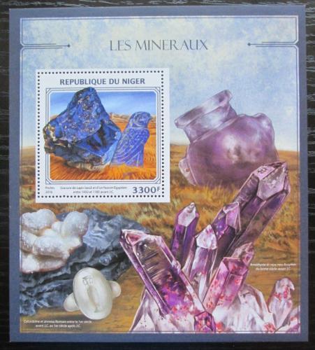 Poštovní známka Niger 2016 Minerály Mi# Block 587 Kat 13€