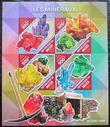 Poštovní známky Niger 2015 Minerály Mi# 3852-55 Kat 14€