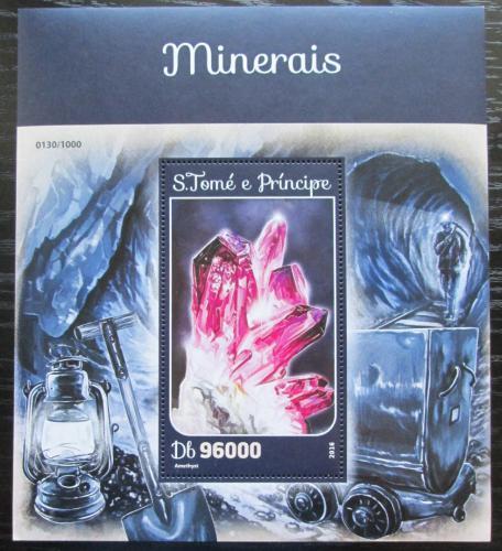 Poštovní známka Svatý Tomáš 2016 Minerály Mi# Block 1173 Kat 10€