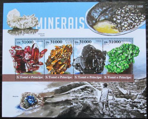 Poštovní známky Svatý Tomáš 2015 Minerály Mi# 6300-03 Kat 12€