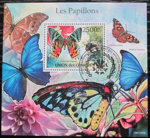 Poštovní známka Komory 2011 Motýli Mi# Block 621 Kat 13€