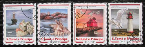 Poštovní známky Svatý Tomáš 2017 Mušle a majáky Mi# 7033-36 Kat 12€