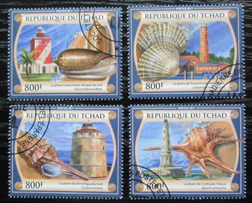 Poštovní známky Èad 2017 Mušle a majáky Mi# 3251-54 Kat 12.80€