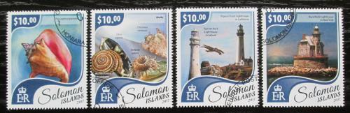 Poštovní známky Šalamounovy ostrovy 2017 Mušle a majáky Mi# 4647-50 Kat 12€