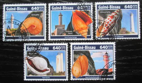Poštovní známky Guinea-Bissau 2018 Mušle a majáky Mi# 9738-42 Kat 12€