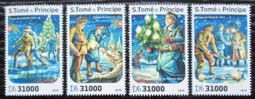 Poštovní známky Svatý Tomáš 2016 Vánoce Mi# 6876-79 Kat 12€