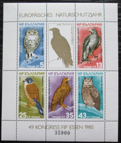 Poštovní známky Bulharsko 1980 Ptáci Mi# Block 105 Kat 50€