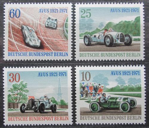 Poštovní známky Západní Berlín 1971 Závodní auta Mi# 397-400