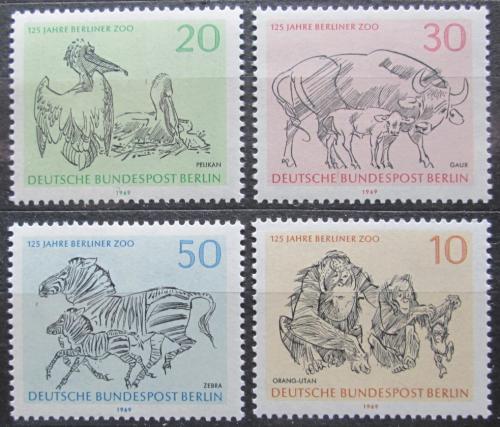 Poštovní známky Západní Berlín 1969 Berlínská ZOO Mi# 338-41