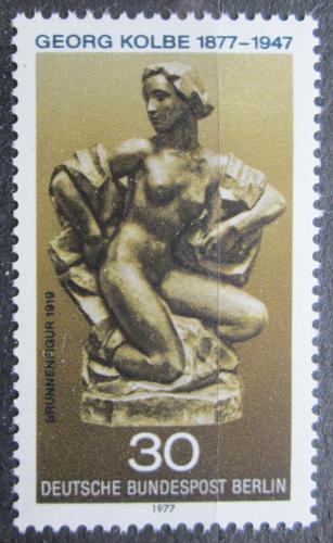 Poštovní známka Západní Berlín 1977 Plastika, Georg Kolbe Mi# 543