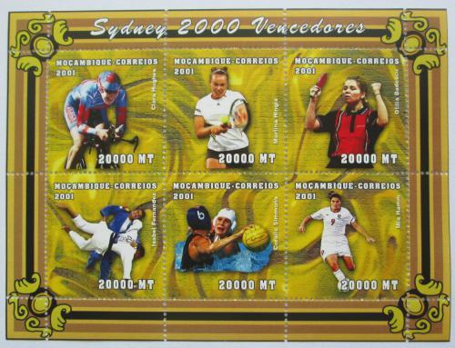 Poštovní známky Mosambik 2001 LOH Sydney Mi# 1912-17 Kat 12€