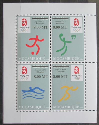 Poštovní známky Mosambik 2008 LOH Peking pøetisk Mi# Block 233