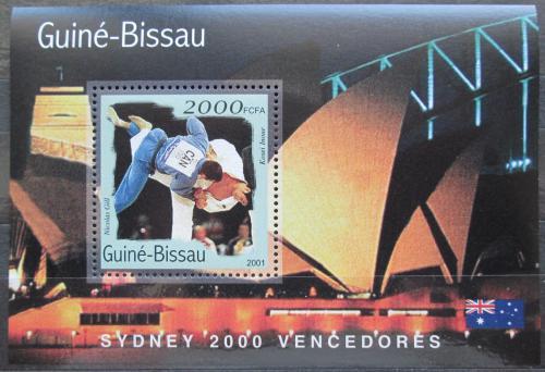 Poštovní známka Guinea-Bissau 2001 LOH Sydney, judo Mi# Block 308 Kat 8.50€