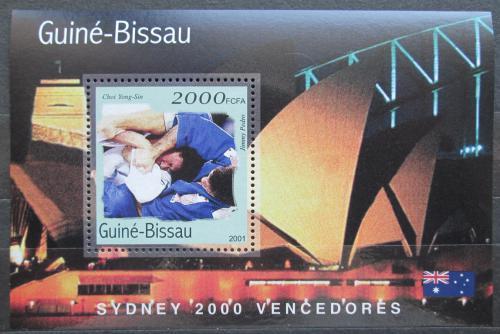 Poštovní známka Guinea-Bissau 2001 LOH Sydney, judo Mi# Block 309 Kat 8.50€