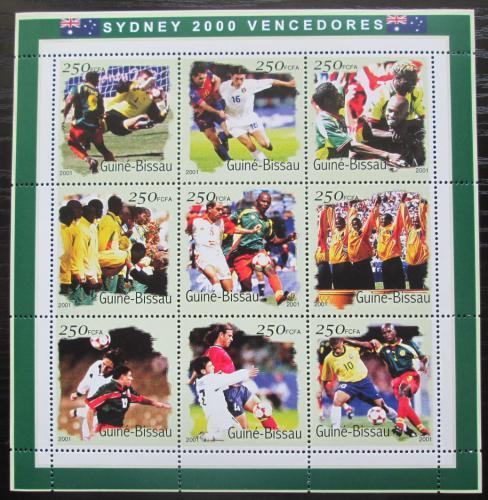 Poštovní známky Guinea-Bissau 2001 LOH Sydney, fotbal Mi# 1306-14