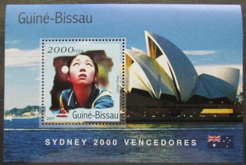 Poštovní známka Guinea-Bissau 2001 LOH Sydney, stolní tenis Mi# Block 311 Kat 8.50€
