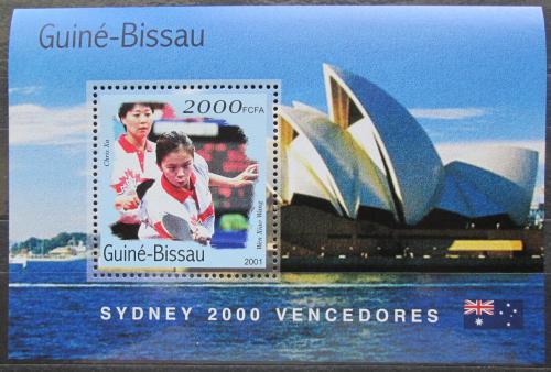 Poštovní známka Guinea-Bissau 2001 LOH Sydney, stolní tenis Mi# Block 312 Kat 8.50€