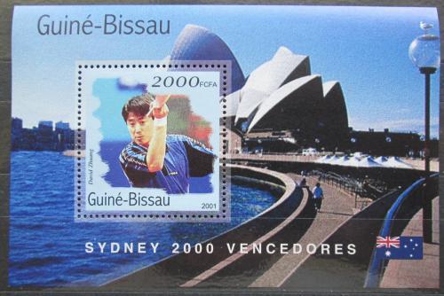 Poštovní známka Guinea-Bissau 2001 LOH Sydney, stolní tenis Mi# Block 313 Kat 8.50€