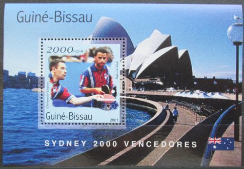 Poštovní známka Guinea-Bissau 2001 LOH Sydney, stolní tenis Mi# Block 314 Kat 8.50€