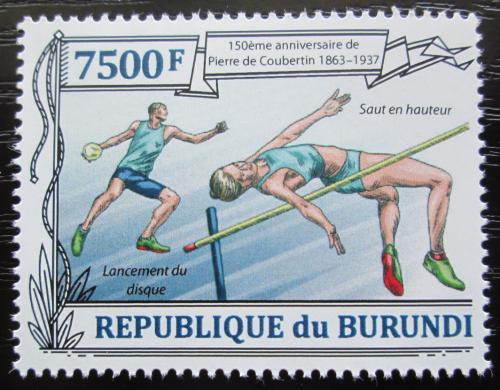 Poštovní známka Burundi 2013 Atletika, Olympijské hry Mi# 3192