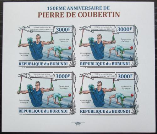 Poštovní známky Burundi 2013 Olympijské hry, Coubertin neperf Mi# 3191 B Bogen