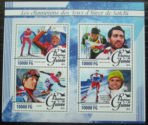 Poštovní známky Guinea 2016 ZOH Soèi Mi# 11766-69 Kat 16€