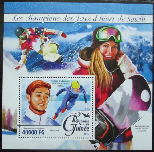 Poštovní známka Guinea 2016 ZOH Soèi Mi# Block 2649 Kat 16€