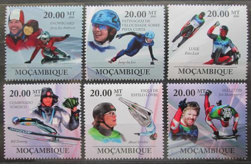 Poštovní známky Mosambik 2010 Slavní sportovci, zimní sporty Mi# 3746-51 Kat 8€