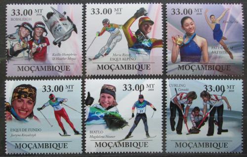 Poštovní známky Mosambik 2010 Slavné sportovkynì, zimní sport Mi# 3752-57 Kat 10€