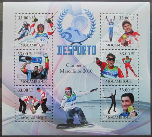 Poštovní známky Mosambik 2010 Slavní sportovci, zimní sport Mi# 3758-63 Kat 10€
