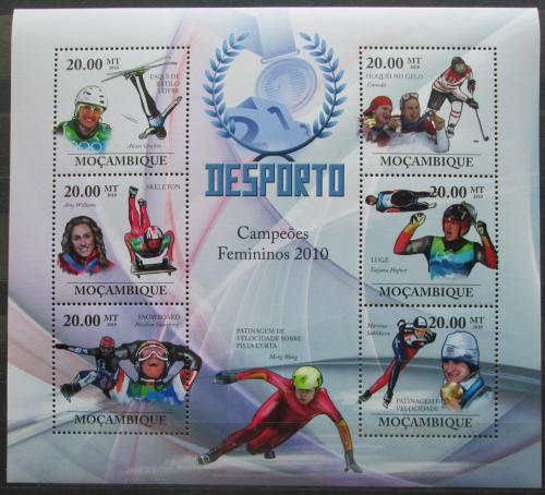 Poštovní známky Mosambik 2010 Slavné sportovkynì, zimní sport Mi# 3740-45 Kat 8€