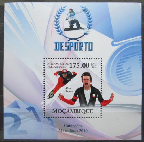 Poštovní známka Mosambik 2010 Mark Tuitert, rychlobruslaø Mi# Block 331 Kat 10€