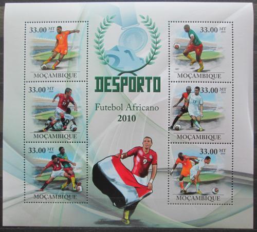 Poštovní známky Mosambik 2010 Africký fotbal Mi# 3669-74 Kat 10€